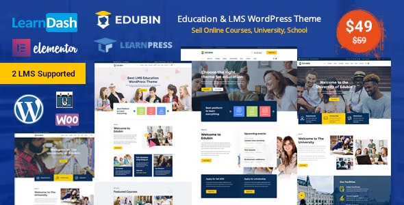 Edubin - Education LMS WordPress Theme - Education WordPress