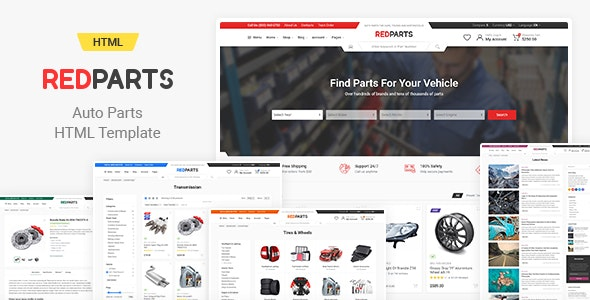 RedParts - Auto Parts HTML Template - Shopping Retail