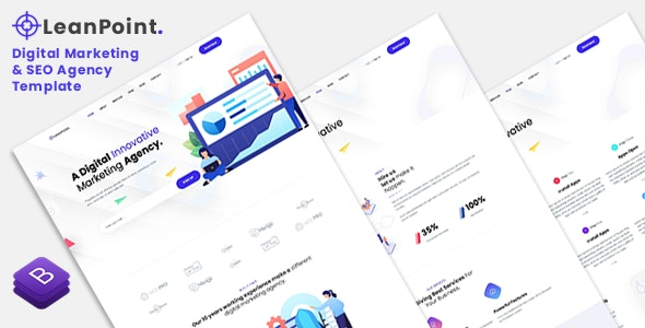 LeanPoint - Digital Marketing and SEO Agency Template - Marketing Corporate