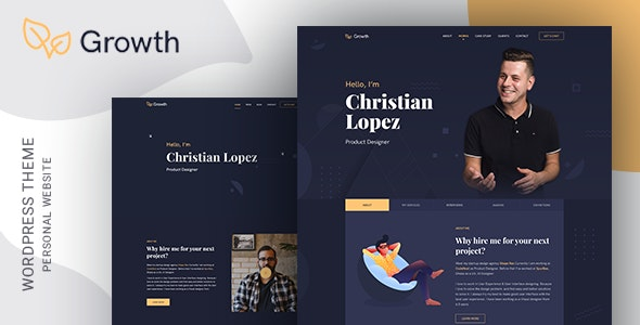 Growth – Personal Portfolio Theme - Portfolio Creative