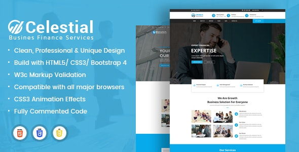 Celestial - Business & Financne Boostrap HTML Template - Business Corporate