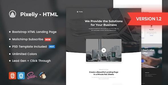 Pixeliy - Business HTML Landing Page Template - Marketing Corporate