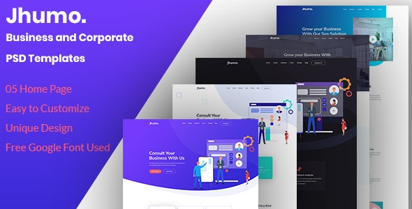 Jhumo.- Business and Corporate PSD Templates - Business Corporate