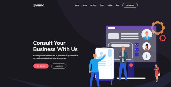 Jhumo.- Business and Corporate PSD Templates