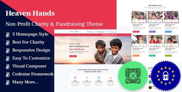 Heaven Hands- Non-Profit Charity & Fundraising WordPress Theme - Charity Nonprofit