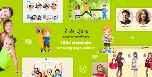 Kids Zone - Children WordPress - Education WordPress