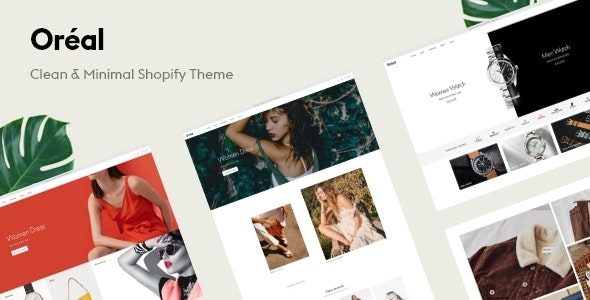 Oreal - Minimal Responsive Shopify Theme - Shopify eCommerce