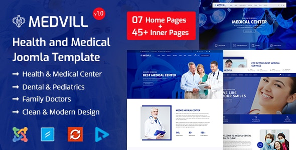 Medvill - Medical Joomla Template - Health & Beauty Retail