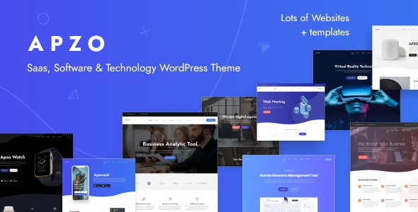 Apzo - Software App Saas WordPress - Software Technology