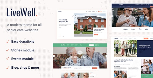 LiveWell - Senior Care Theme - Health & Beauty Retail