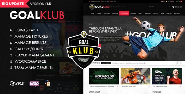 Goal Club | Sports & Events WordPress Theme - Nonprofit WordPress
