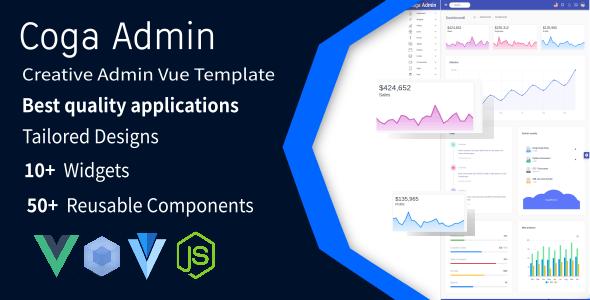 Coga - Admin Vue 2 WebPack Responsive + Vuetify - Admin Templates Site Templates