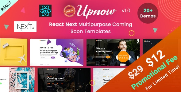 Upnow | React Next Under Construction & Countdown Templates - Under Construction Specialty Pages