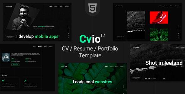 Cvio Resume/CV/Portfolio Template - Virtual Business Card Personal
