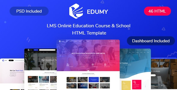 Edumy - LMS Online Education Course & School HTML Template - Corporate Site Templates