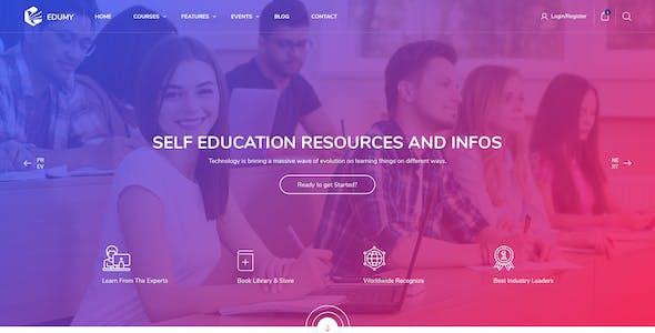 Edumy - LMS Online Education Course & School HTML Template