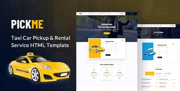 PickMe - Modern Taxi Cab Rental Service HTML Template - Business Corporate