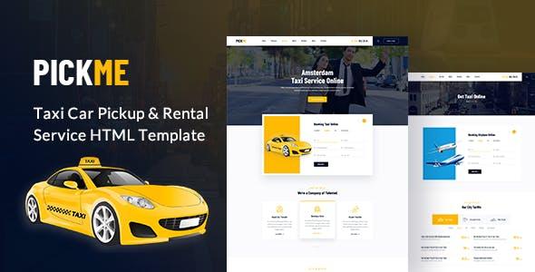 PickMe - Modern Taxi Cab Rental Service HTML Template