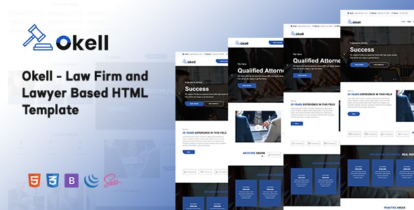 Okell - Law Firm and Lawyer Based HTML Template - Business Corporate