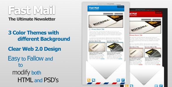 Fast Mail Web 2.0 - Newsletters Email Templates