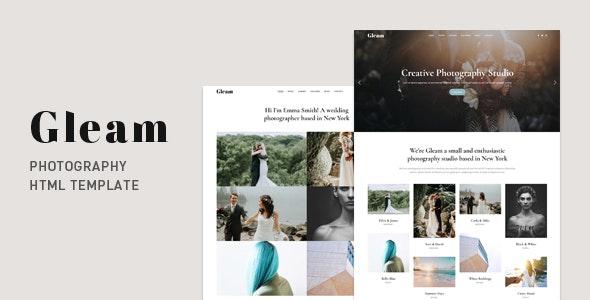 Gleam - Portfolio Photography HTML Template - Photography Creative