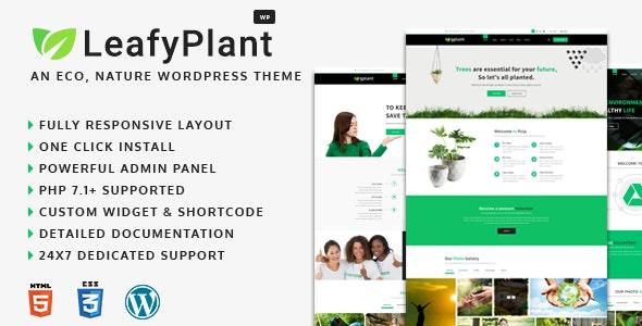 LeafyPlant - Multipurpose Environmental WordPress Theme - Environmental Nonprofit