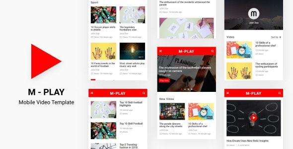 M-PLAY - Mobile Video Template - Mobile Site Templates