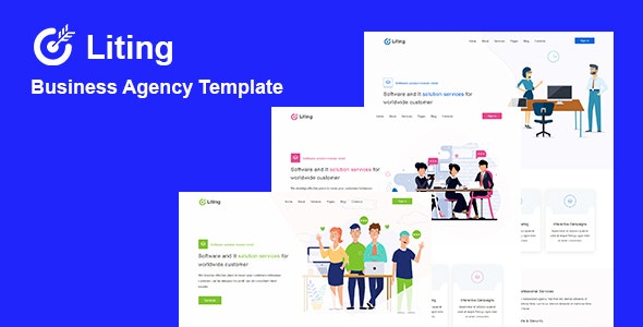 Liting - Agency & Startup HTML Template - Business Corporate
