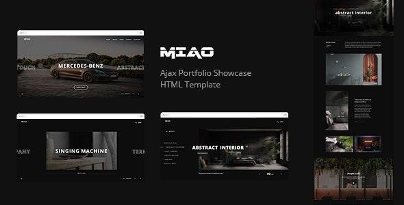Miao - Ajax Portfolio Showcase HTML Template - Portfolio Creative