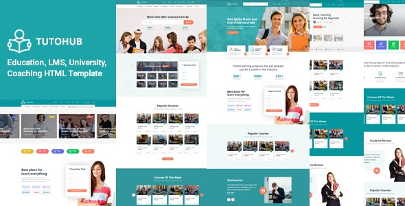 Tutohub - LMS Education HTML Template - Corporate Site Templates