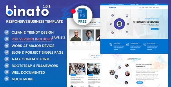 Binato - Responsive Business & Consulting Template - Corporate Site Templates