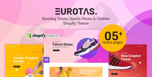 Eurotas – Running Shoes, Sports Shoes & Clothes Shopify Theme - Shopify eCommerce