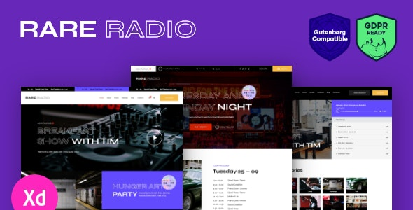 Rare Radio | Online Music Radio Station & Podcast WordPress Theme - Music and Bands Entertainment