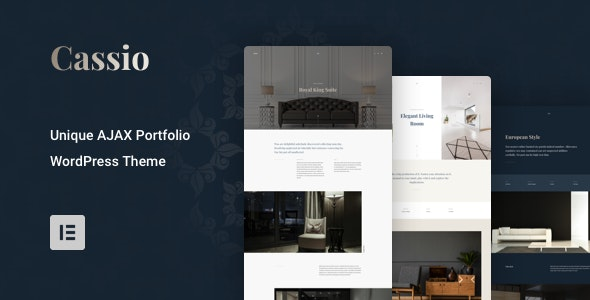 Cassio – AJAX Portfolio WordPress Theme - Portfolio Creative