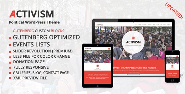Activism - Political WordPress Theme - Activism Nonprofit