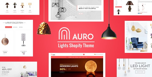 Auro | Interior, Lights Store Shopify Theme - Technology Shopify