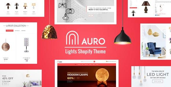 Auro | Interior, Lights Store Shopify Theme