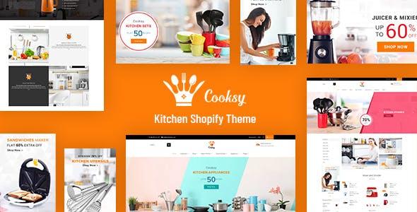 Cooksy - Kitchen Store, Appliances Shopify Theme