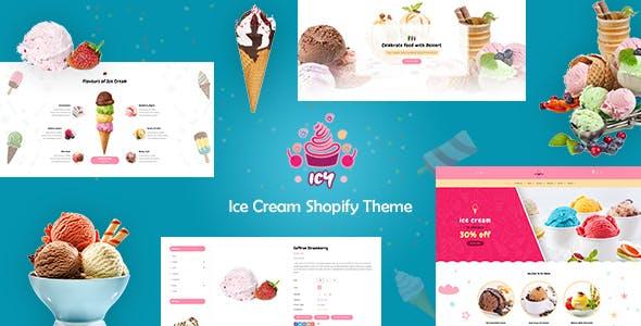 Icy - Shopify Ice Cream, Cake Shop Theme