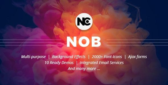 Nob - Creative HTML Template - Creative Site Templates
