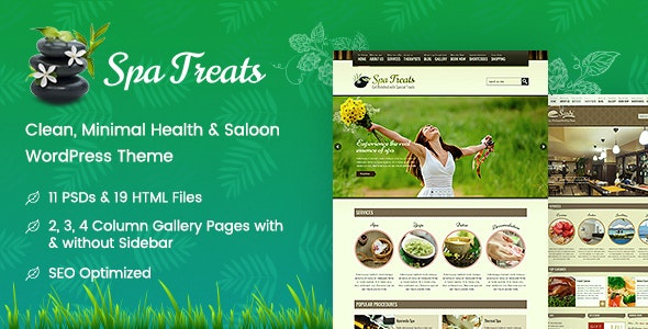 Spa Treats - Health and Wellness WordPress - Health & Beauty Retail