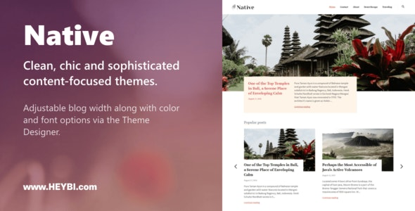 Native: Clean, Chic and Sophisticated Themes - Blogging