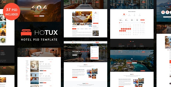 Hotux – Hotel and Resort PSD Template - Business Corporate