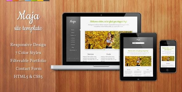 Maja - Responsive Site Template - Creative Site Templates
