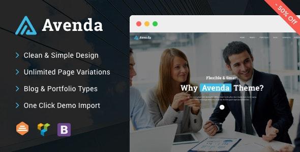 Avenda - Multi-Purpose Business WordPress Theme - Corporate WordPress