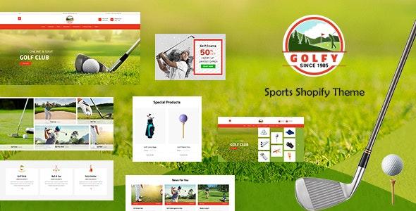 Golf - Sports Store, Game Shopify Theme - Entertainment Shopify