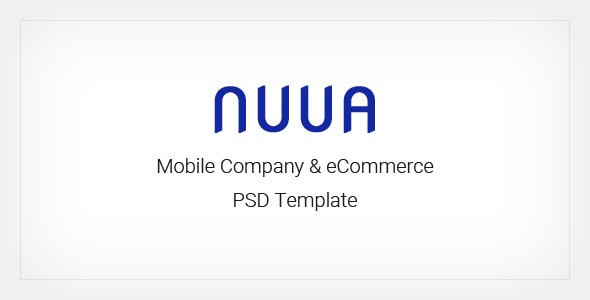 NUUA - Mobile Company and eCommerce PSD Template - Shopping Retail