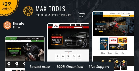 Max Tools - Opencart Multi-Purpose Equipment Theme - Technology OpenCart