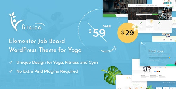 Fitsica - Yoga Jobboard WordPress Theme - Directory & Listings Corporate