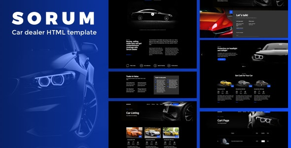 Sorum - Car Dealer HTML Template by deTheme